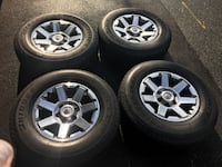 Toyota 4Runner TRD tires with rims , sensors and hubcaps. Only 8000kms on tires and rims. Mint condition practically new.265/70R17 Burnaby, V5J