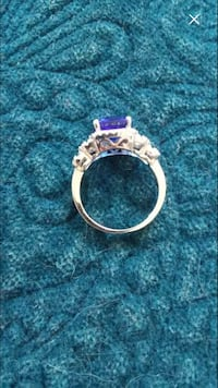 Sterling silver and blue gemstone ring London