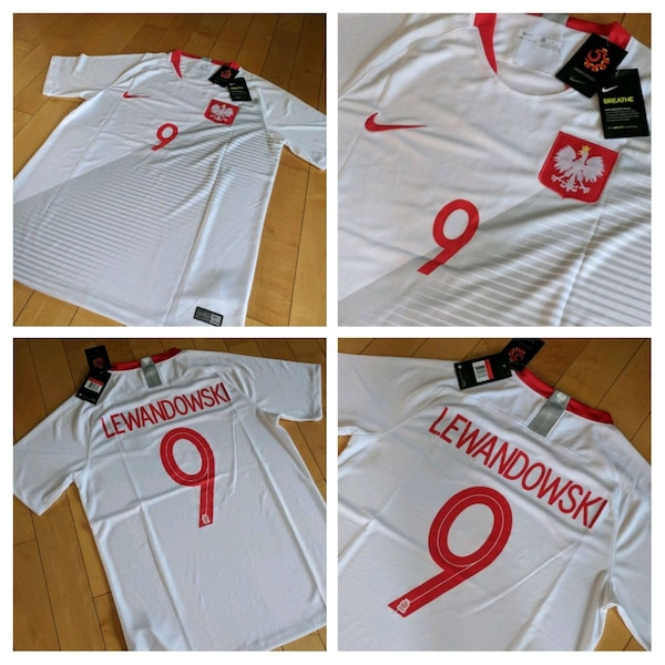 Used LEWANDOWSKI POLAND JERSEYS WORLD CUP OF SOCCER for sale in Brampton 228df1a70