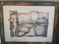 Beautiful abstract art in bronzed type frame St. Albert, T8N 4G6