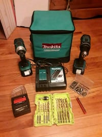 black and green Makita cordless hand drill with charger San Diego, 92123