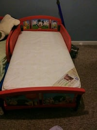 Toddler bed with mattress- 2 available