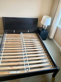 Queen bed and night stand