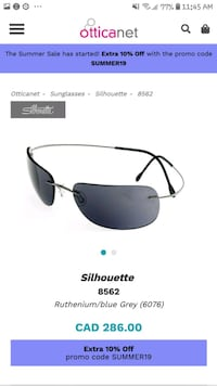 Sillhoutte sunglasses with case