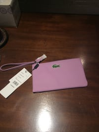 Clutch Lacoste lavender neuf