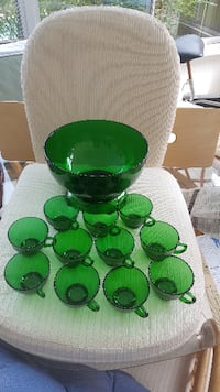 green and black glass candle holders null