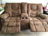 Brown leather love seat recliner sofa Manassas, 20110