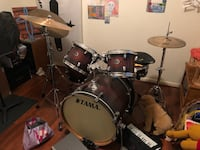 Red Tama Power Craft II Drum Set with Cymbals Houston, 77027
