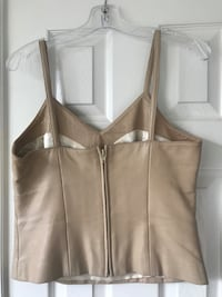 Pink Leather Cami - size small.  Fully lined, spaghettis straps with zipper in back.  Good condition. Glenn Dale, 20769