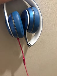 Blue and gray corded headphones I just don't need it anymore Herndon, 20170