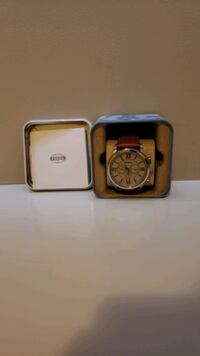 Fossil Chronograph Tan Leather Band Calgary, T3K