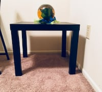 blue and white wooden side table NEWPORTBEACH