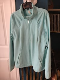 Teal under armour zip-up jacket , B0P 1V0