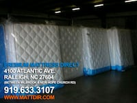 white and blue bed mattress Raleigh, 27604