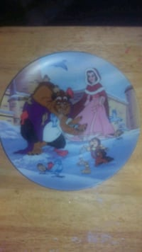Beauty and beast Disney plate Selden, 11784