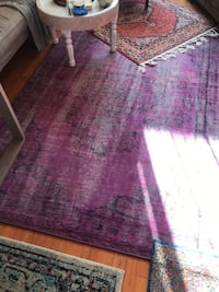 Vintage 8 x 10 Area Rug (Fuschia/Purple) Santa Monica, 90404