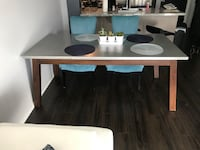 Wood frame Stainless steel table Coquitlam, V3E