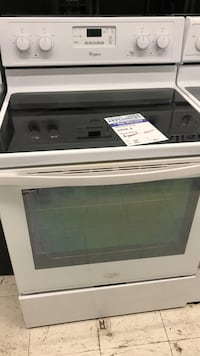 white whirlpool convection glass top range oven stove Westminster, 80031