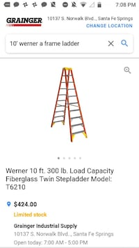 Is a screenshot of a ladder I have  is brand new  Downey, 90242