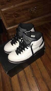White-and-black air jordan 2 shoes Schenectady, 12305