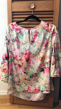white, pink, and green floral long sleeve shirt Victoria, V8N 2L1
