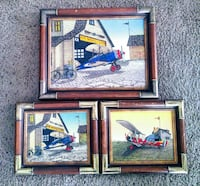 Three H. Hargrove signed oil paintings