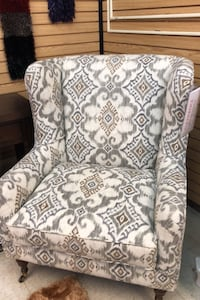 Custom High back Klaussner Chair w Pattern Print Fabric Athens, 30606