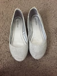 Pair of silver flats