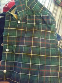 green, yellow, and black plaid button-up sport shi Baltimore