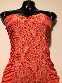 Coral Lace Front Tube Dress Small Calgary, T3A 2T7
