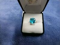(New) Simulated Electric Blue Topaz Stafford, 22556