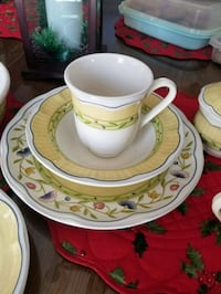 white and yellow ceramic teacup and saucer set Toms River, 08753