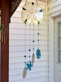 Stained Glass Sand Dollar Starfish Wind Chime Sun Catcher Mobile Nashville, 37209