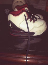 white-and-black Air Jordan basketball shoes Clearwater, 33755
