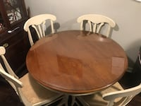 Maple wood glass extendable dining table set ( w/ 4 chairs) Plainsboro, 08536