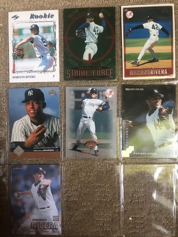 Mariano Rivera Lot Of 7 Cards Score 96 Rookie Card