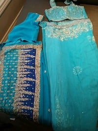 Saree 1 turquoise, 1 blue, 2 yellow 100 each Richmond Hill, L4C 8Y6