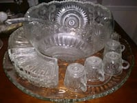 Antique cut glass Punch bowl set Trussville