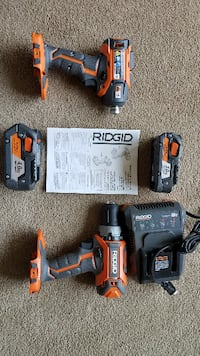 Rigid 18V Drill Driver/Hex Impact Set OLYMPIA