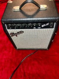 black and gray Fender guitar amplifier