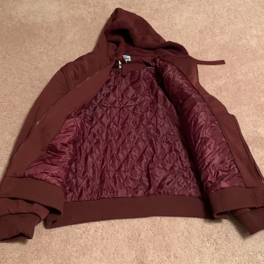 Men's Haband Full Zip Sweatshirt with Quilted Lining. Brand new.