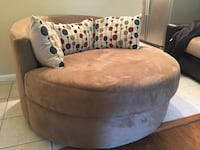 Round turnable chair with microfiber Fort Washington, 20744