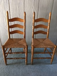 2 oak cane bottom chairs. Crystal Springs, 39059