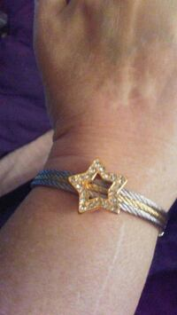 Crystal star and gold and sterling silver bracelet Spring Hill, 34608