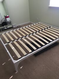 gray and black slatted bed frame Myrtle Beach, 29579