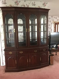 Solid Cherry wood glass china cabinet Sarasota, 34240