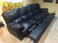 4 piece leather recliner couch Montgomery Village, 20886