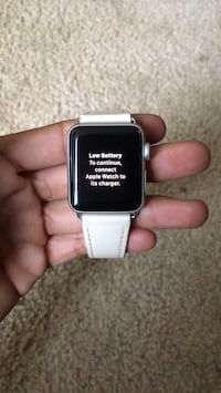 silver aluminum case Apple Watch with white sport band Ashburn, 20148