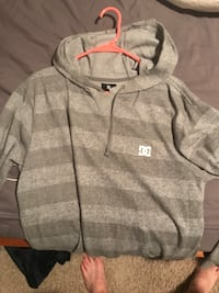 gray and white pullover hoodie Clive, 50325