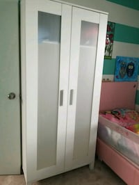 white wooden 2-door wardrobe Calgary, T2Z 2X7